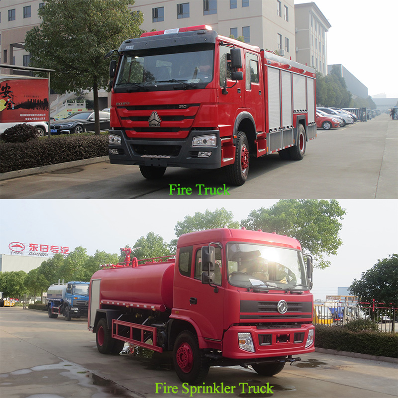 The difference between fire truck and fire sprinkler truck