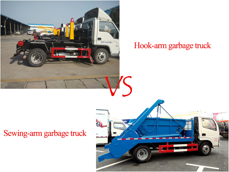 What are the advantages of hook-arm garbage truck over swing-arm garbage truck?