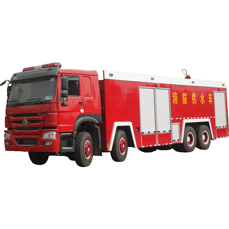 High and low pressure water pump fire truck