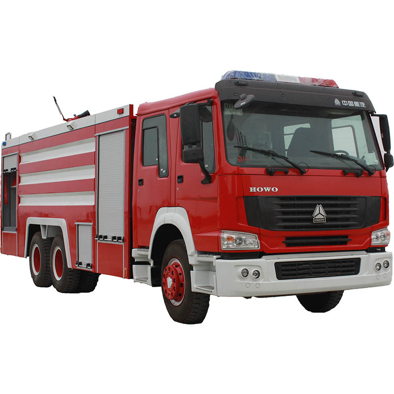 Top equipped fire monitor fire fighting truck